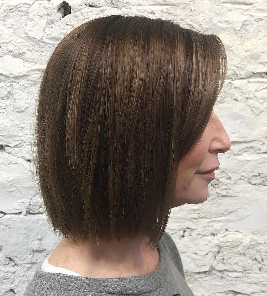 Fine Hair Straight Across Bob over 50
