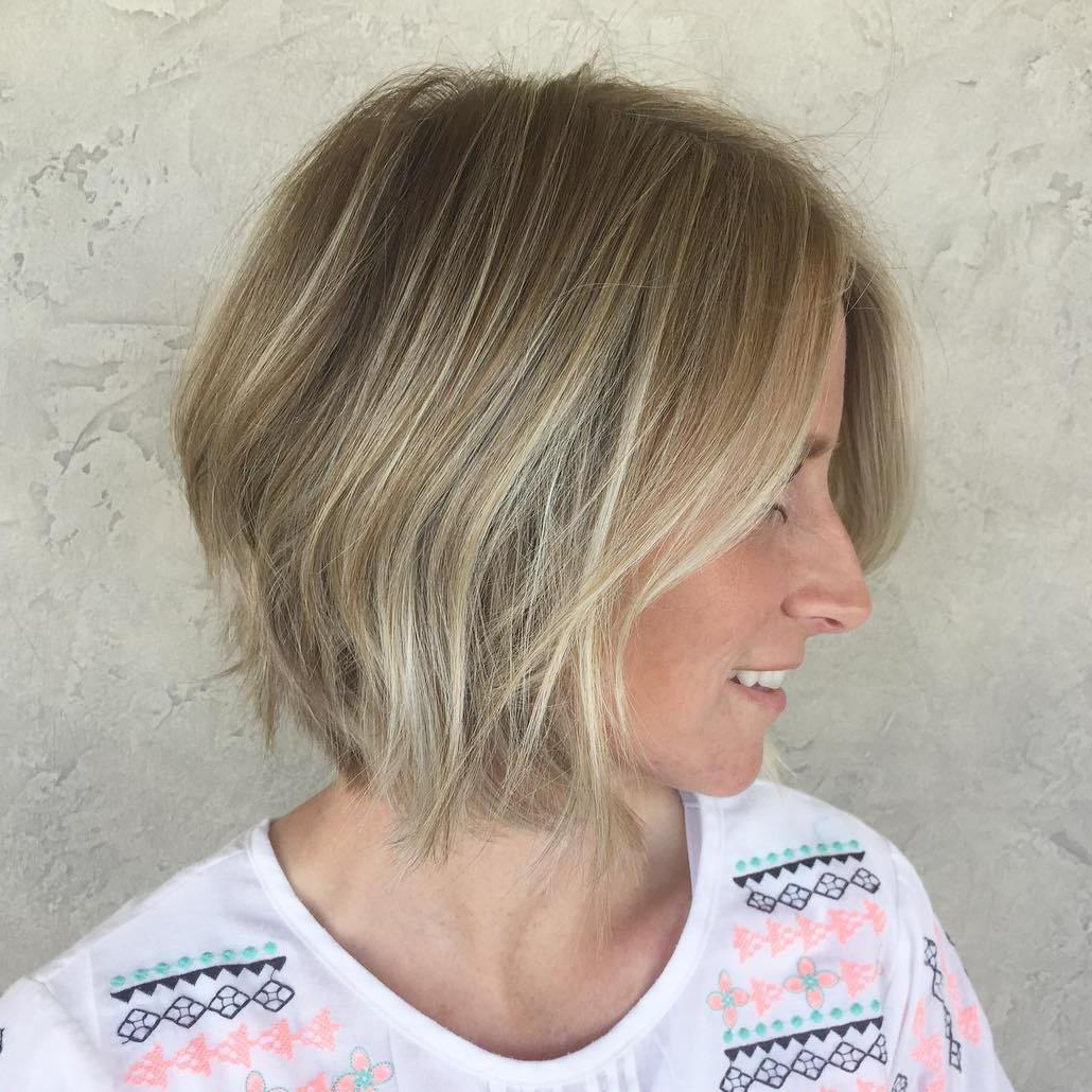 Textured Ash Blonde Bob for Fine Hair