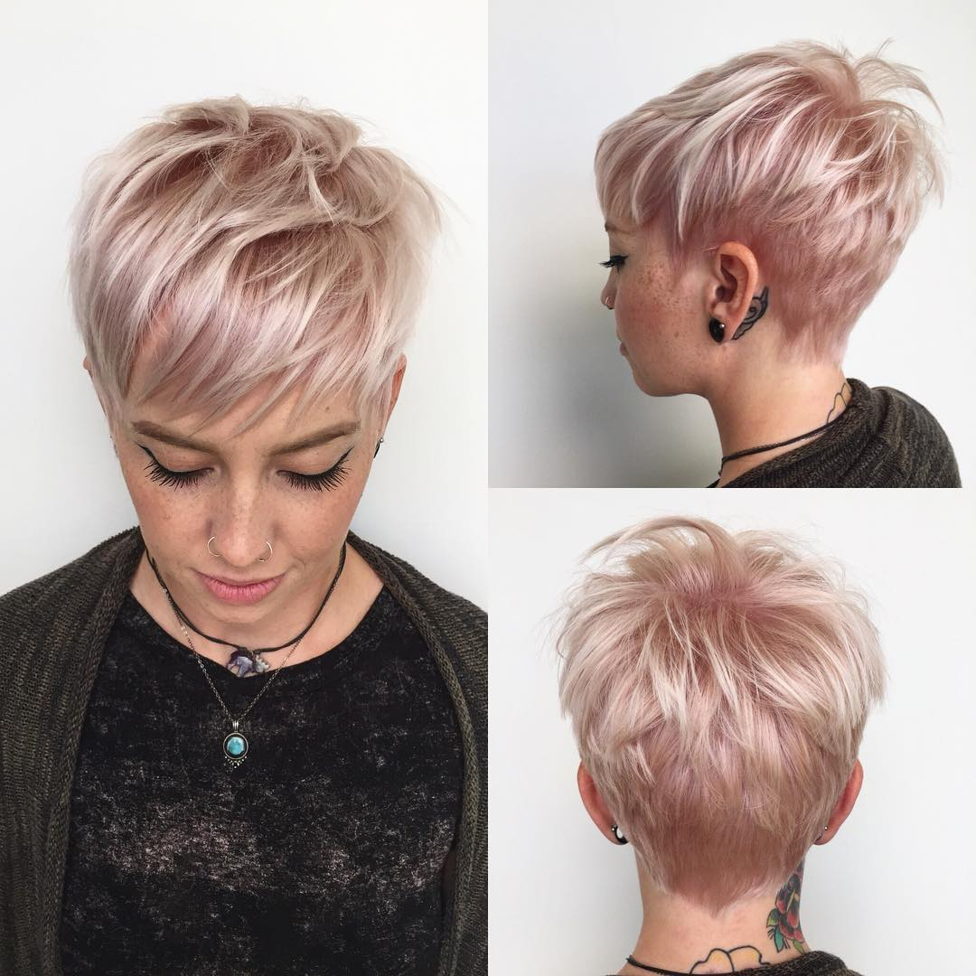 Tapered Pastel Pink Pixie
