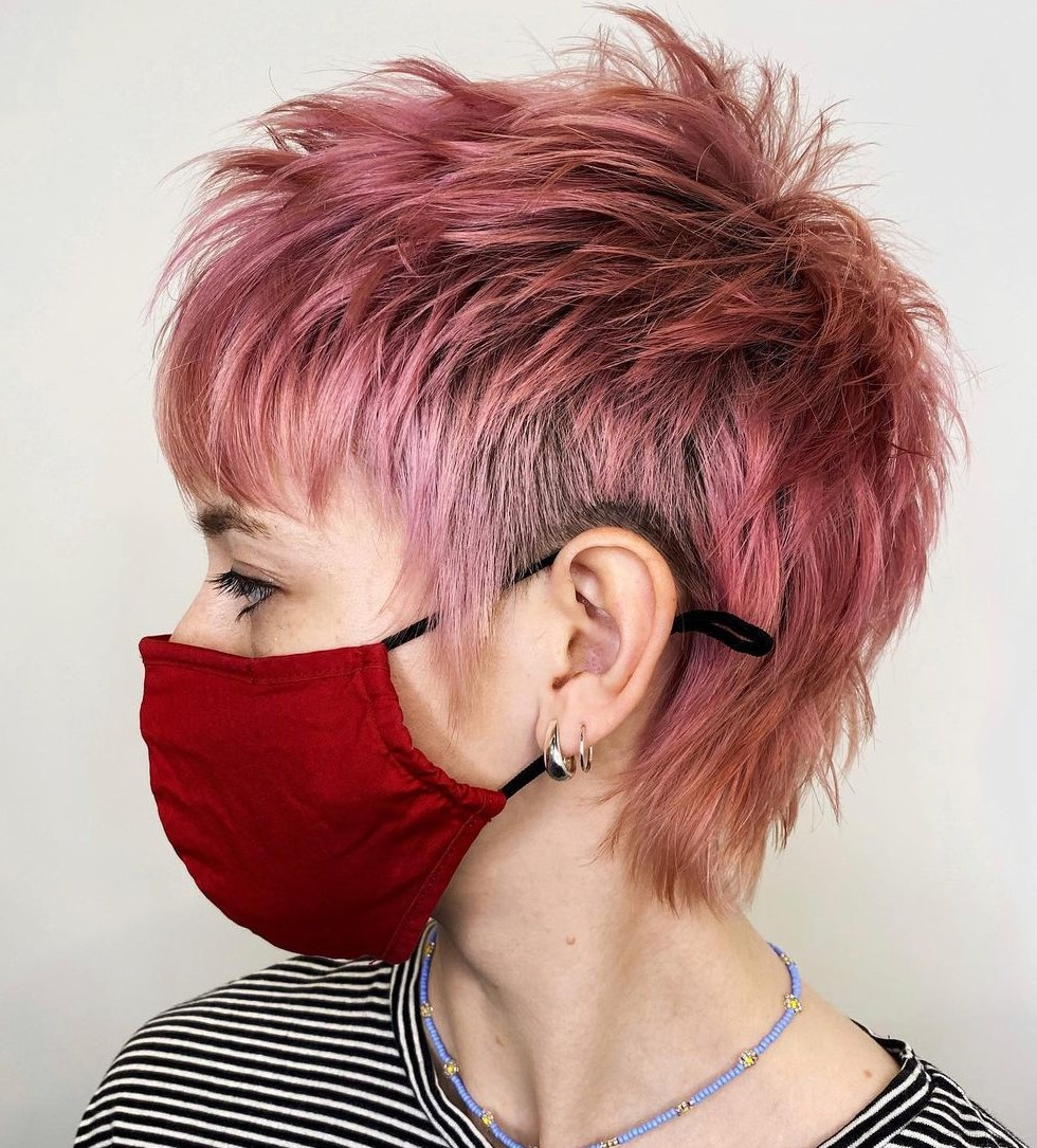 Short Spiky Pink Pixie