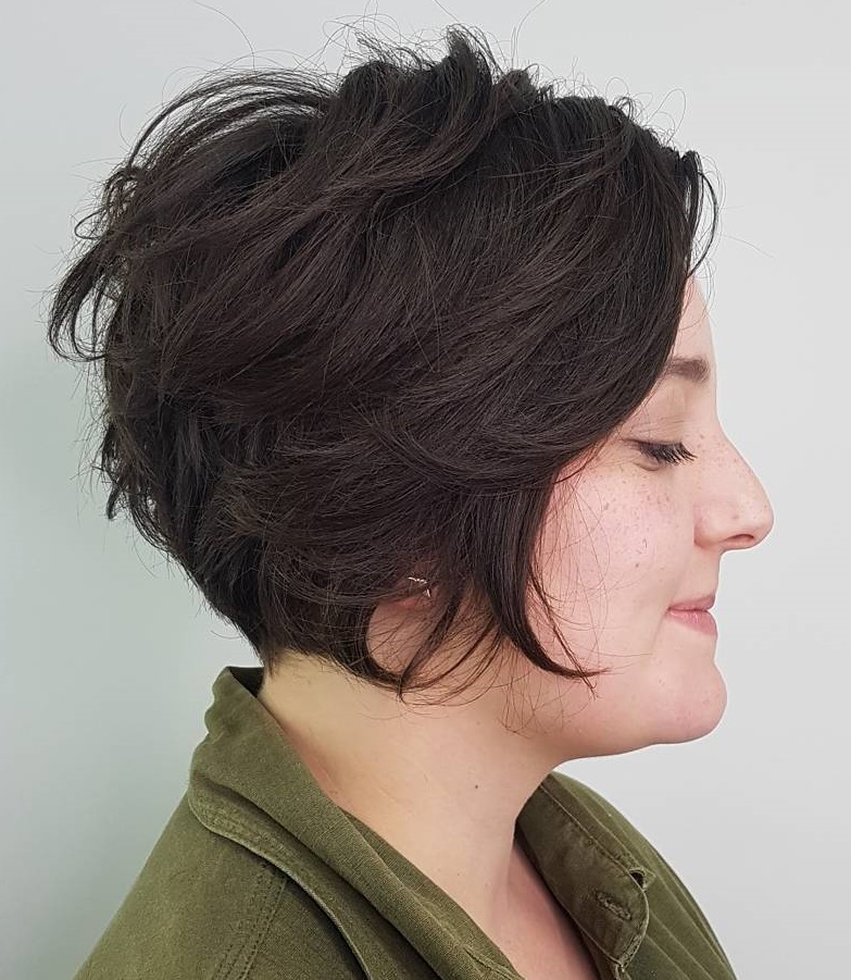 Short Wedge Thick Hair Hairstyle