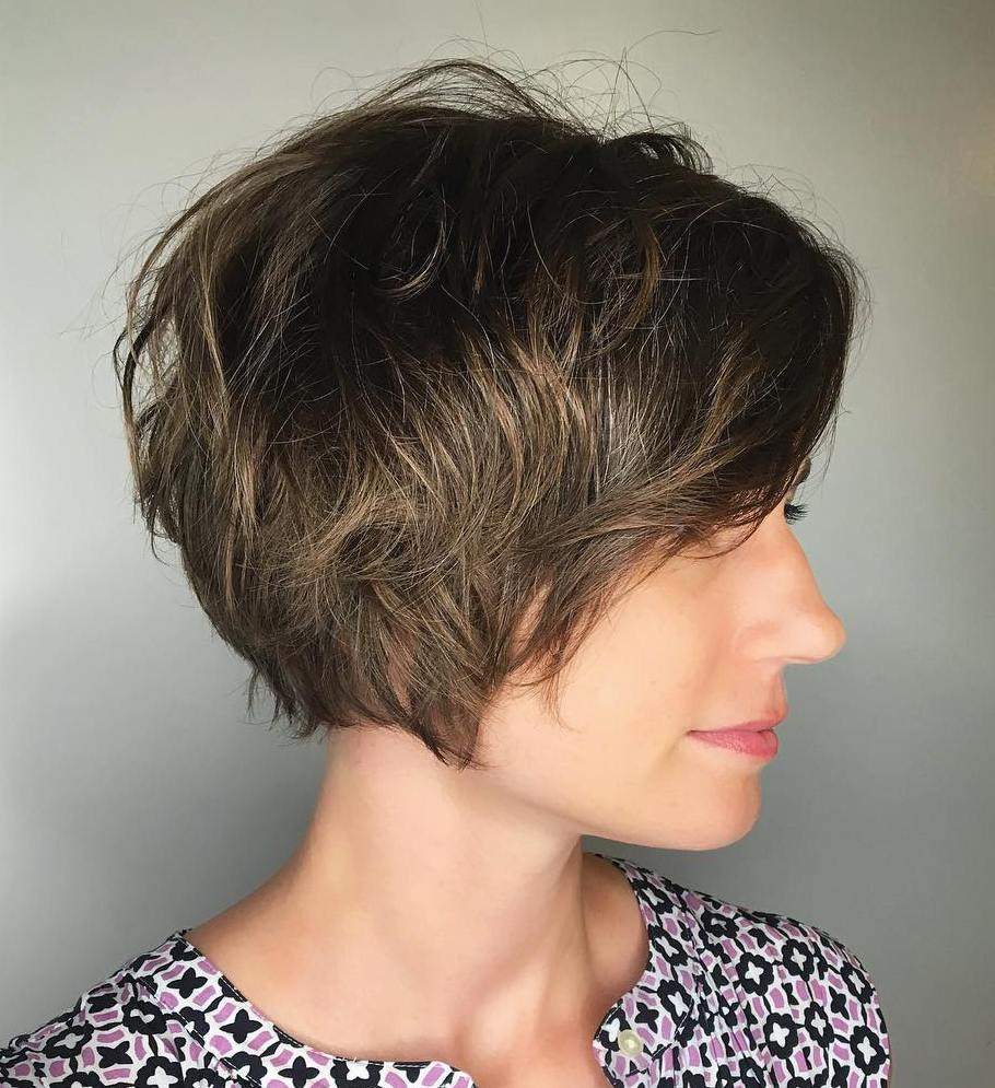 Long Tousled Layered Pixie Hairstyle