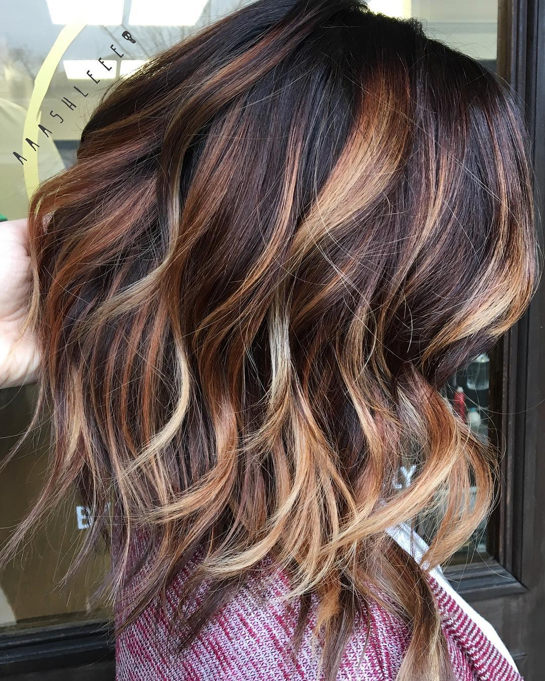 Lob with Curls for Medium Thick Hair