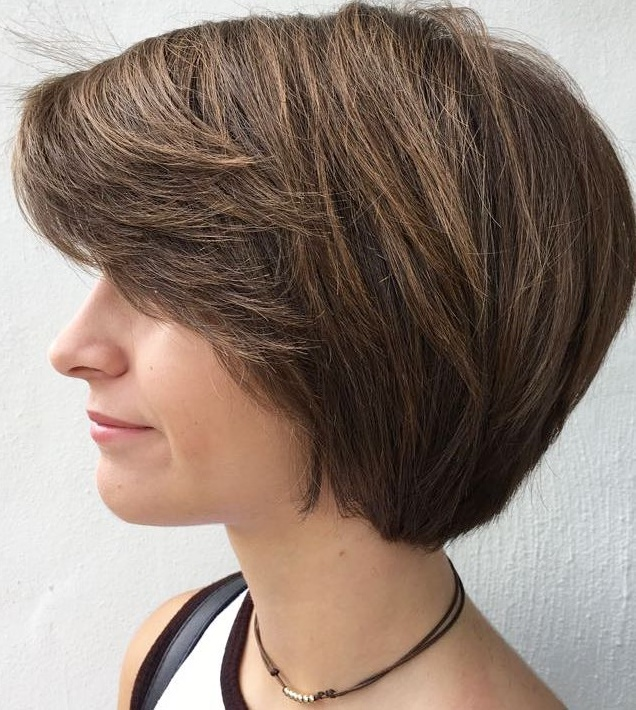 Short Bob with Bangs for Thick Hair