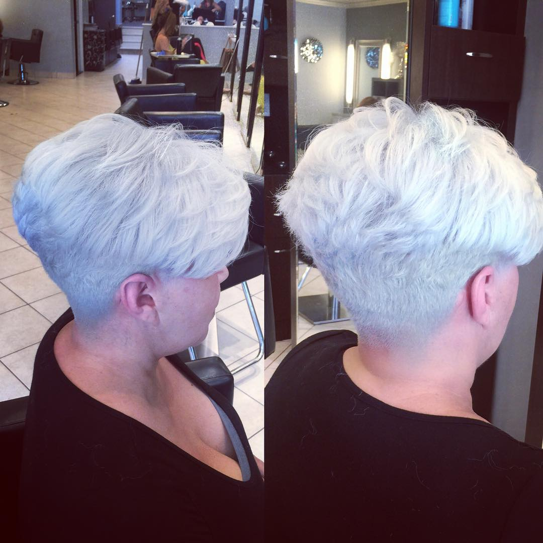 Silver Pixie with Undercut Nape