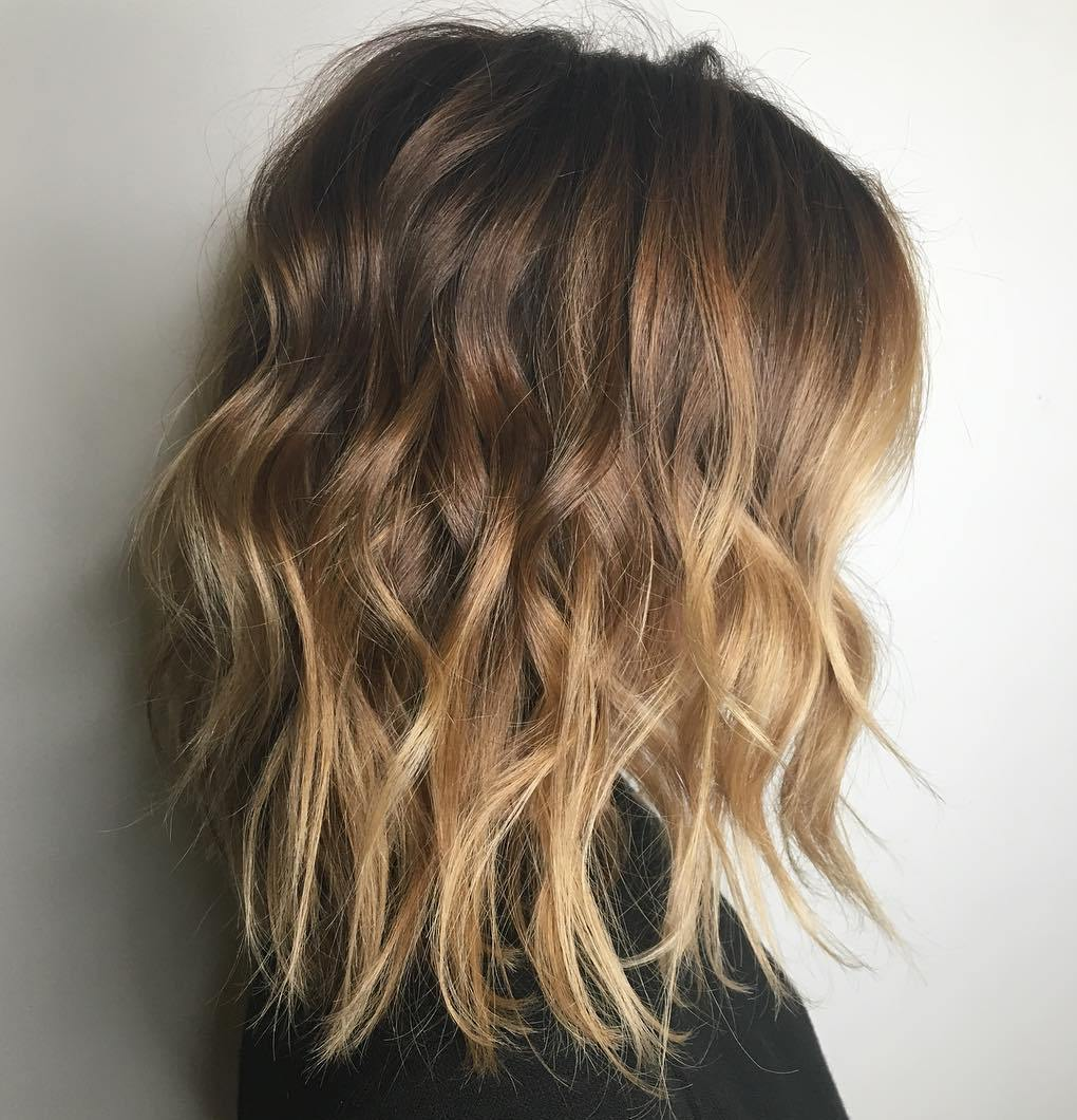 Light Brown to Golden Blonde Balayage on Medium Hair