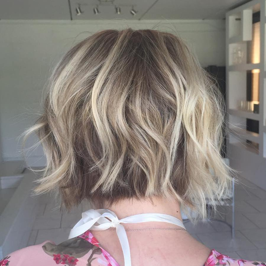 Messy Tousled Curly Fine Bob