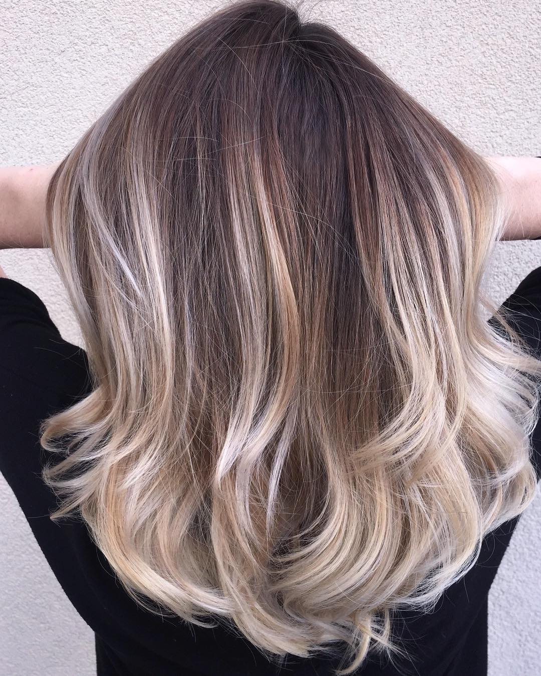 Ash Blonde Balayage for Brown Hair
