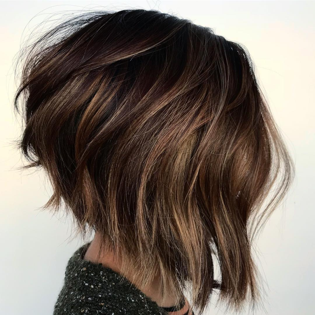 Inverted Bob for Thick Frizzy Wavy Hair