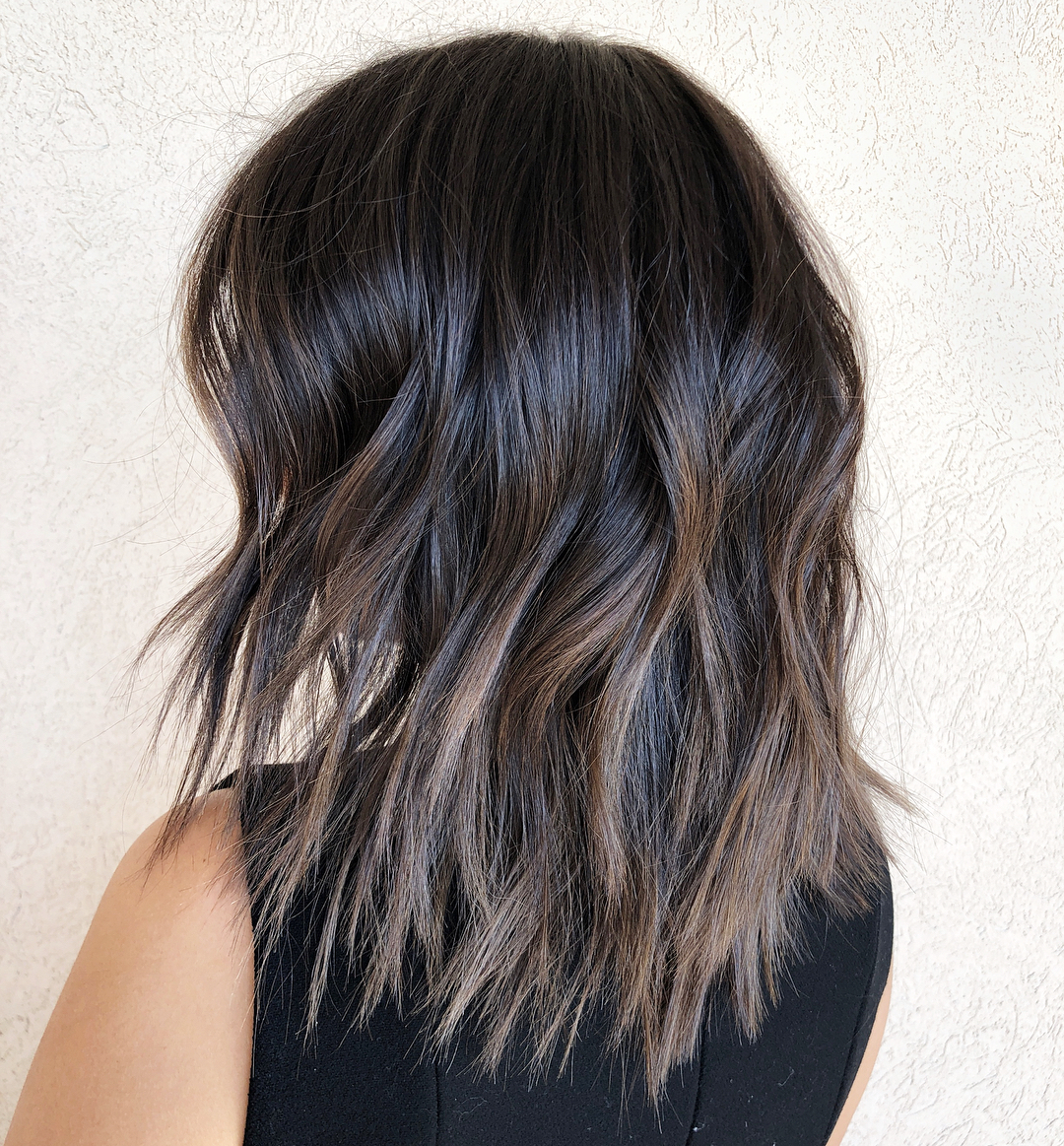 Layered Choppy Brunette Hairstyle