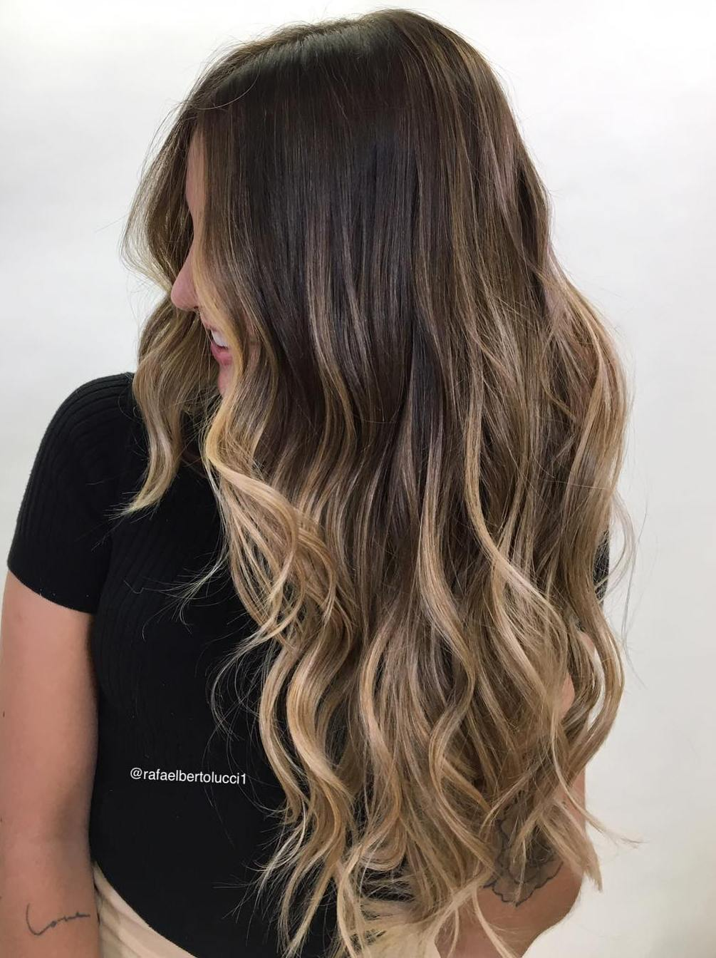 Subtle Brown and Blonde Balayage for Long Hair