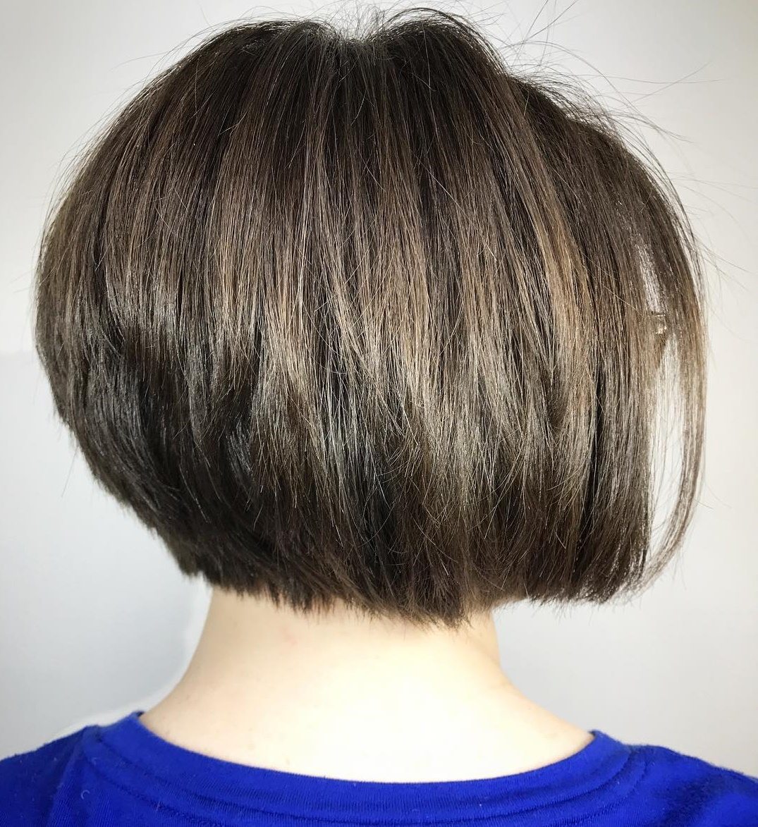 One-Length Short Stacked Bob