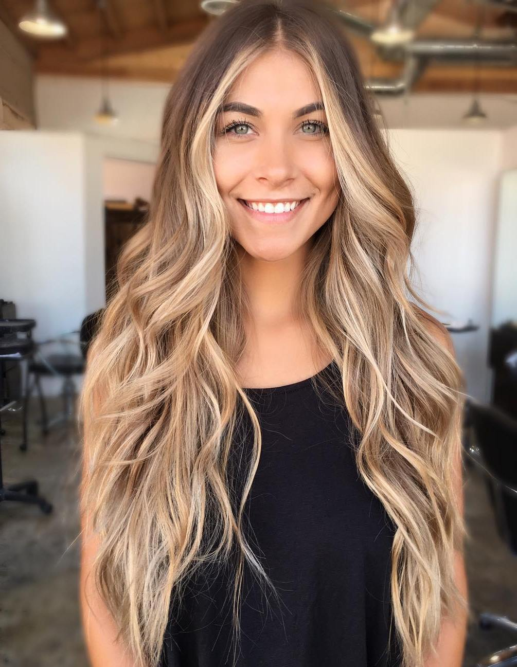 Blonde Face Framing Balayage for Light Brown Hair