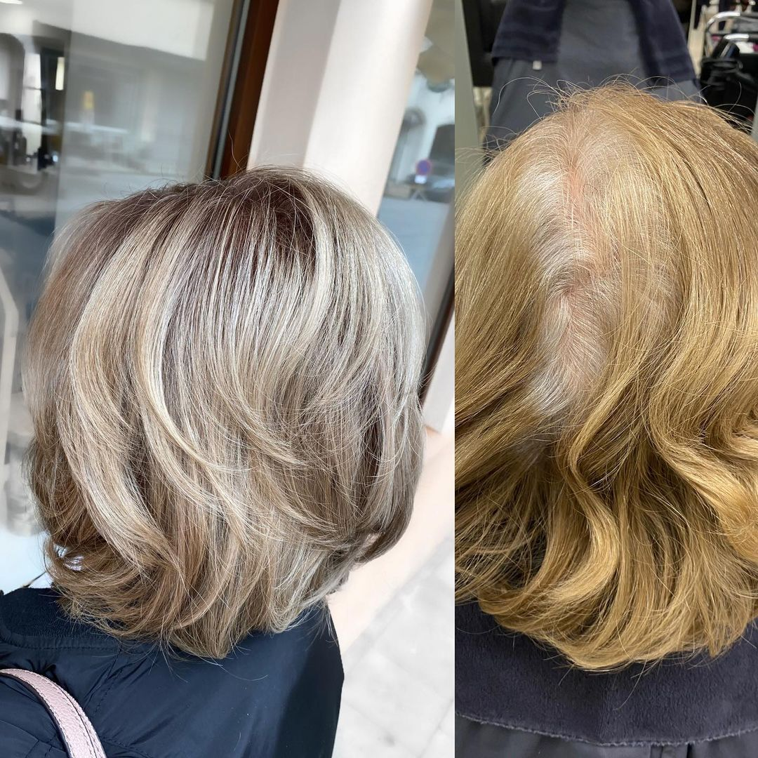 Medium Haircut for Fine Hair Over 60