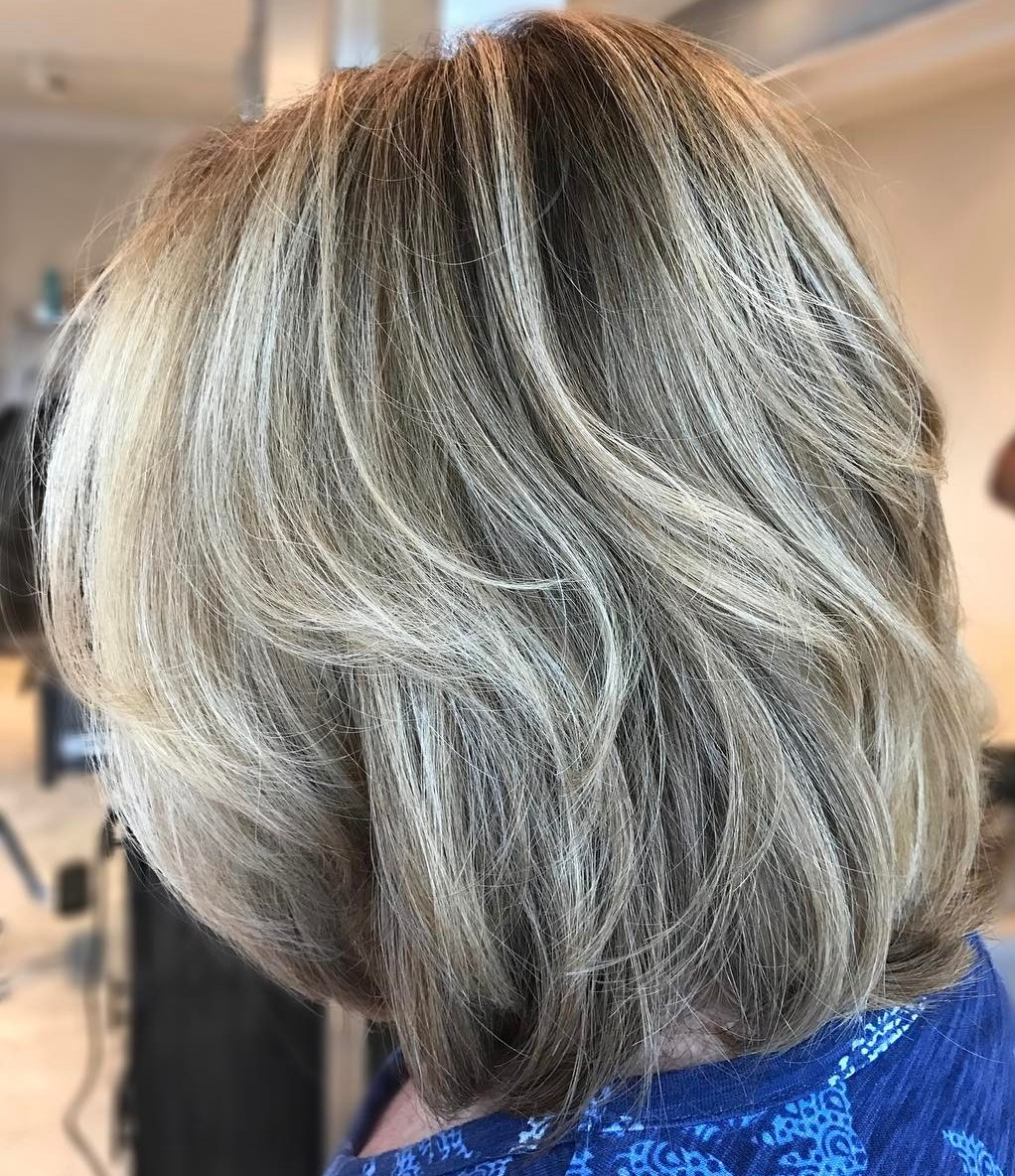 Multi-Dimensional Ash Blonde Bob