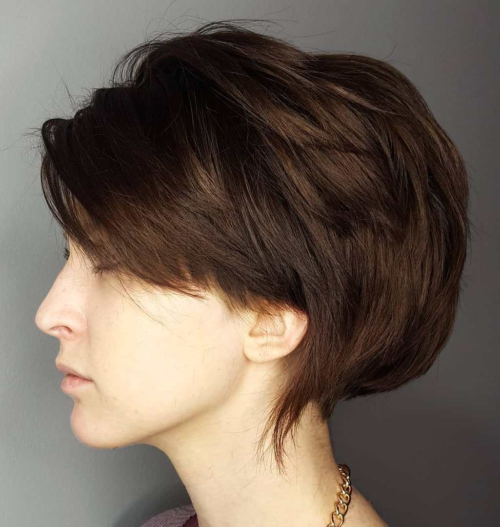 Easy to Style Short Feathered Hairstyle for Thick Hair