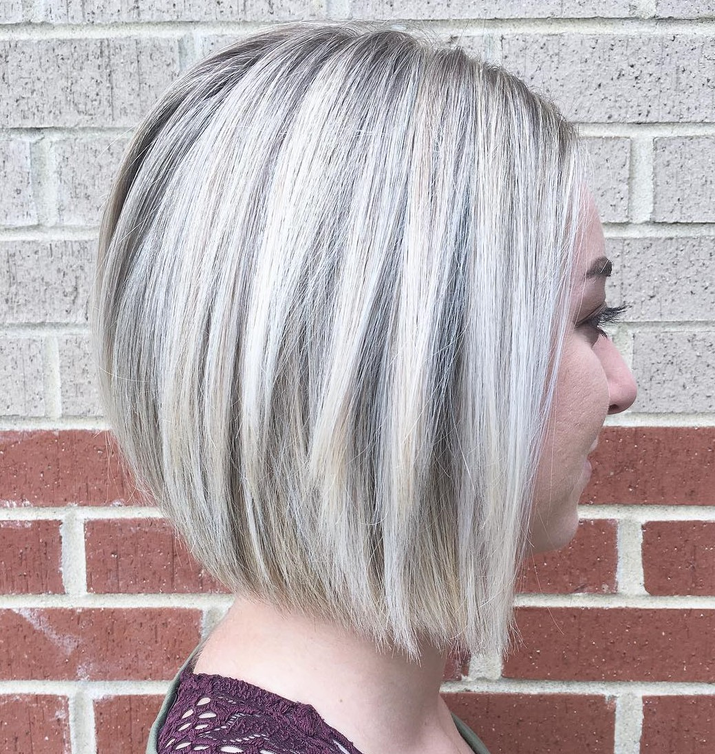 Straight Sleek Bob with Platinum Blonde Balayage