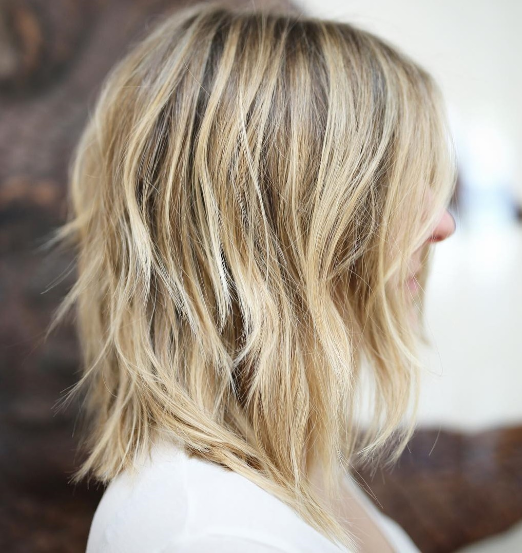 Shaggy Layered Blonde Bob