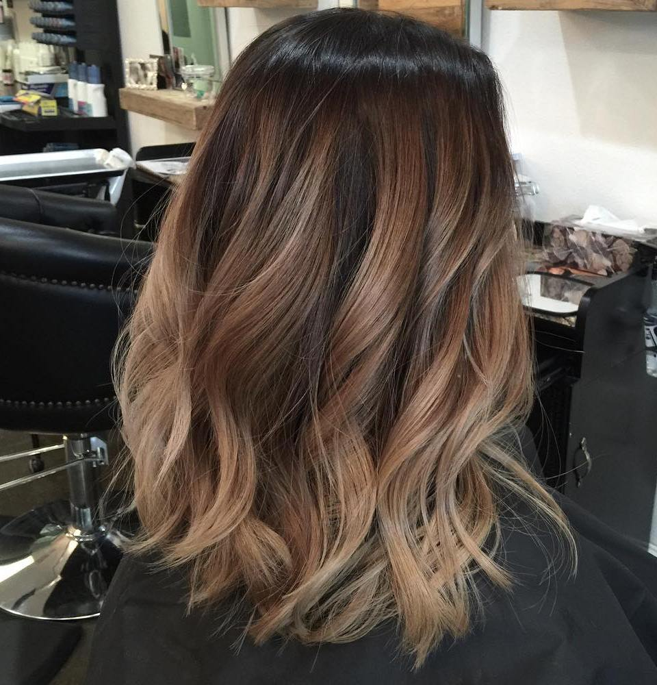 Soft Caramel Brown Balayage for Medium Hair
