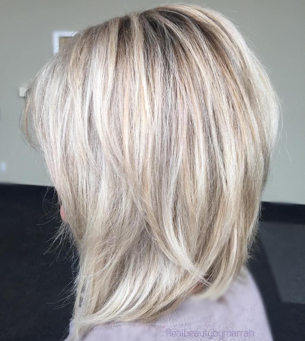Light Blonde Balayage Lob