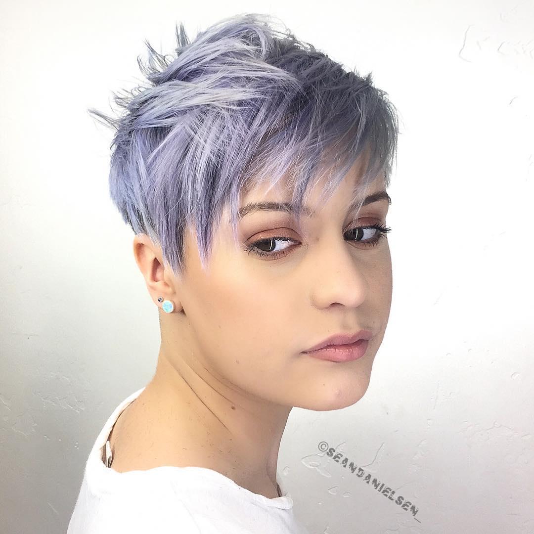 Choppy Pastel Purple Pixie