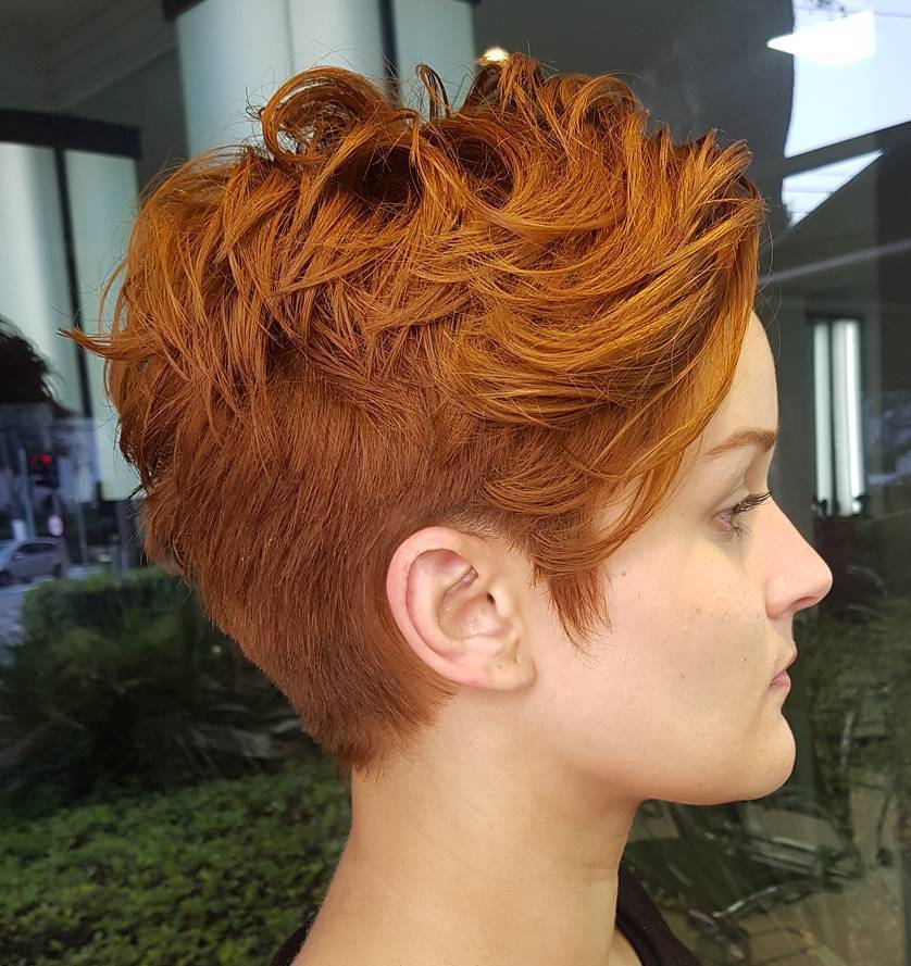 Short Bright Copper Red Hairstyle