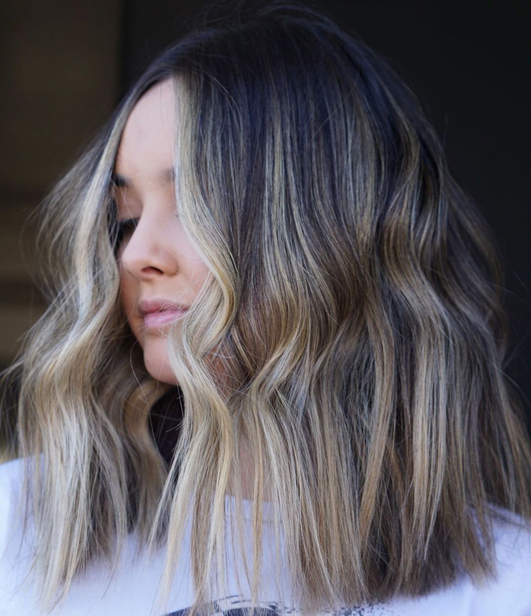 Sandy Blonde Balayage Short Hair