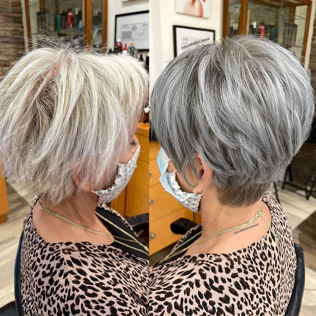 Undercut Short Haircut for Women Over 50