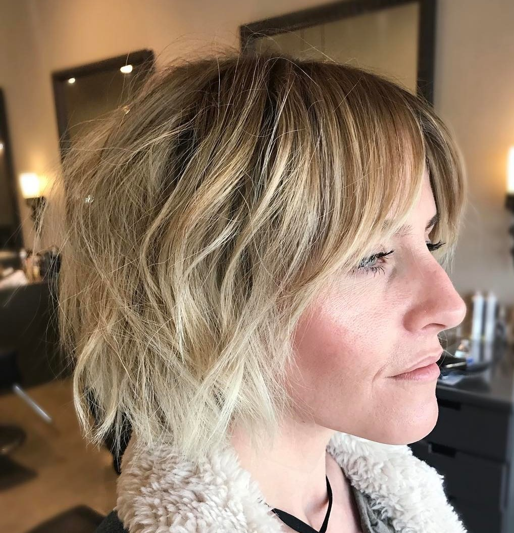 Shaggy Bronde Bob with Ombre