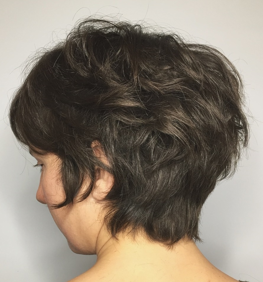 Longer Shaggy Pixie for Thick Hair
