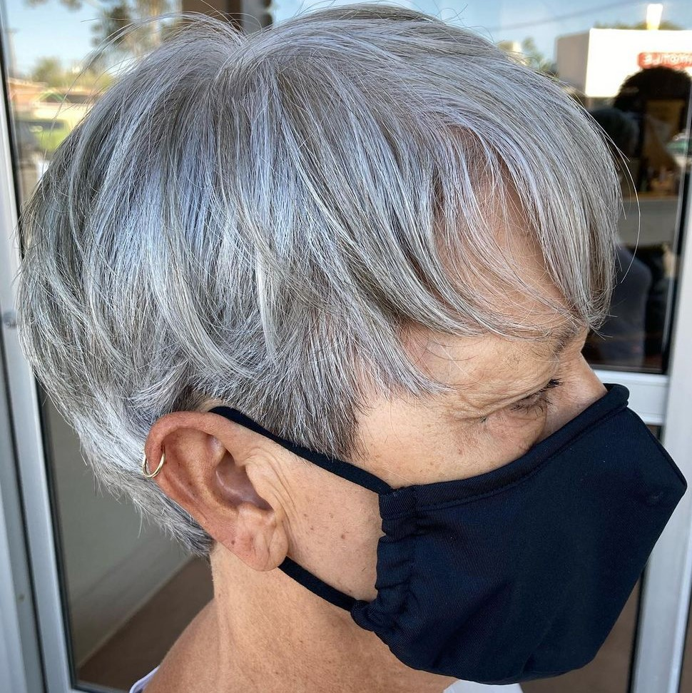 Short Undercut Hairstyle for Seniors