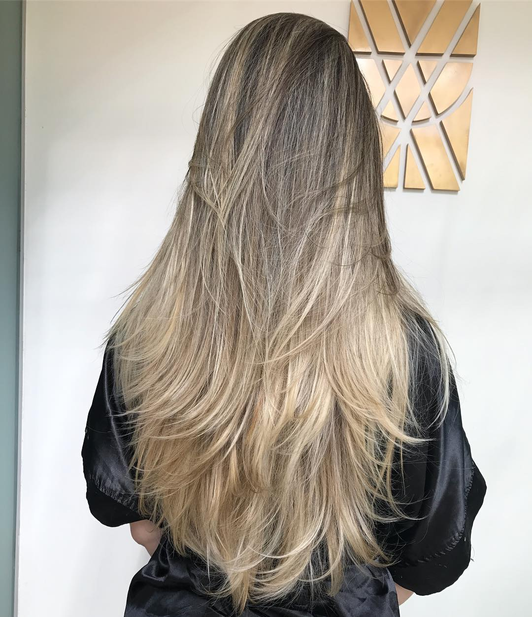 Layered Cut for Long Thick Hair