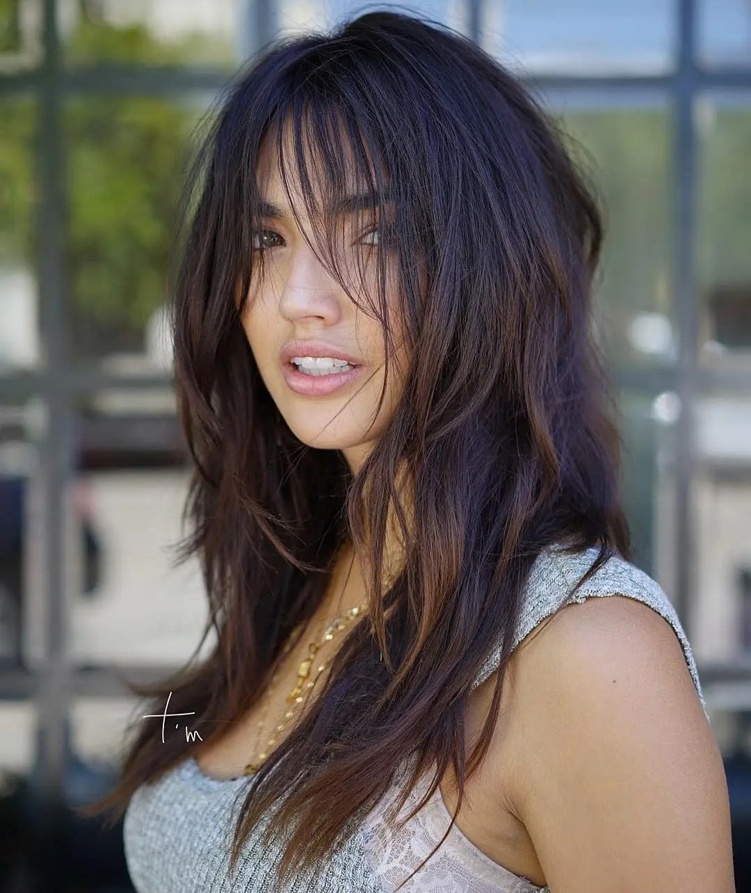 Long Brown Hairstyle with Choppy Layers