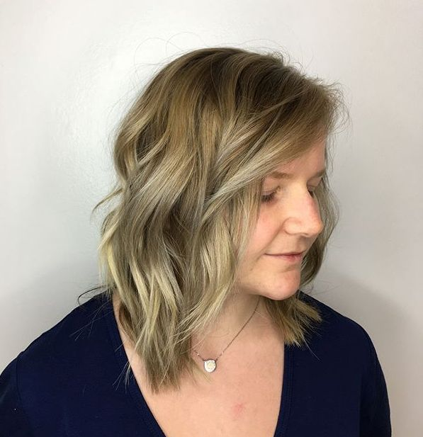 Wavy Layered Long Bob