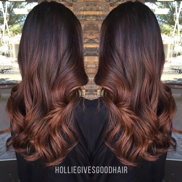 Brunette Reddish Brown Ombre Hair