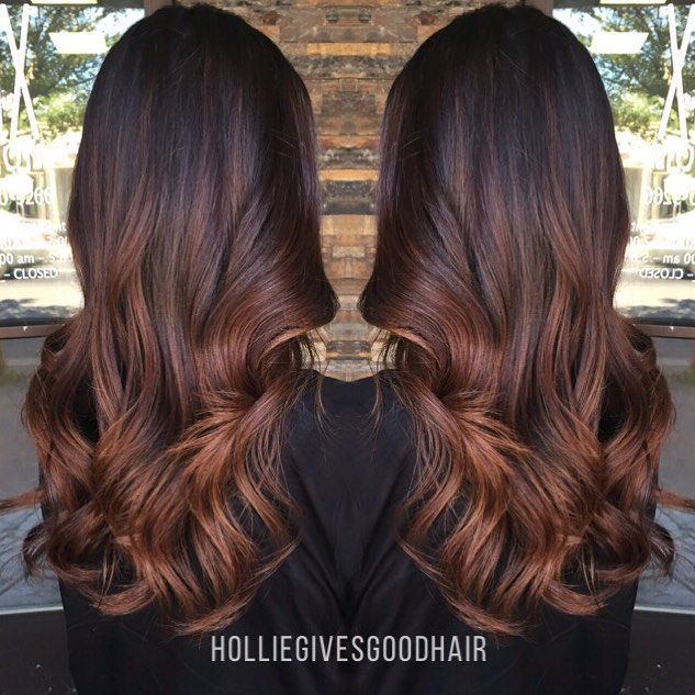 Brunette Reddish Brown Ombre Hair