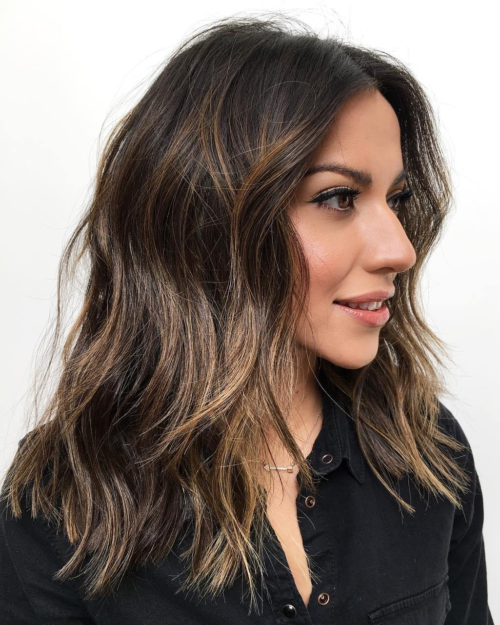 Medium Wavy Hairstyle for Thick Coarse Hair