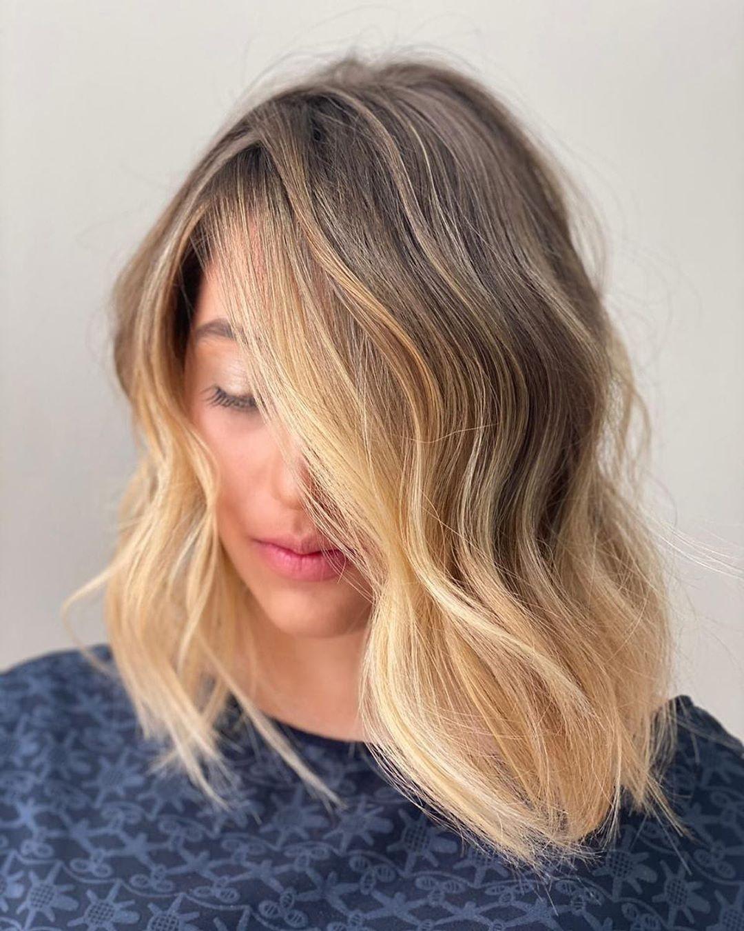 Medium Cut for Wavy Hair