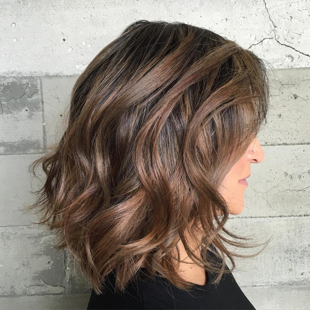 Medium Wavy Cut with Subtle Layers