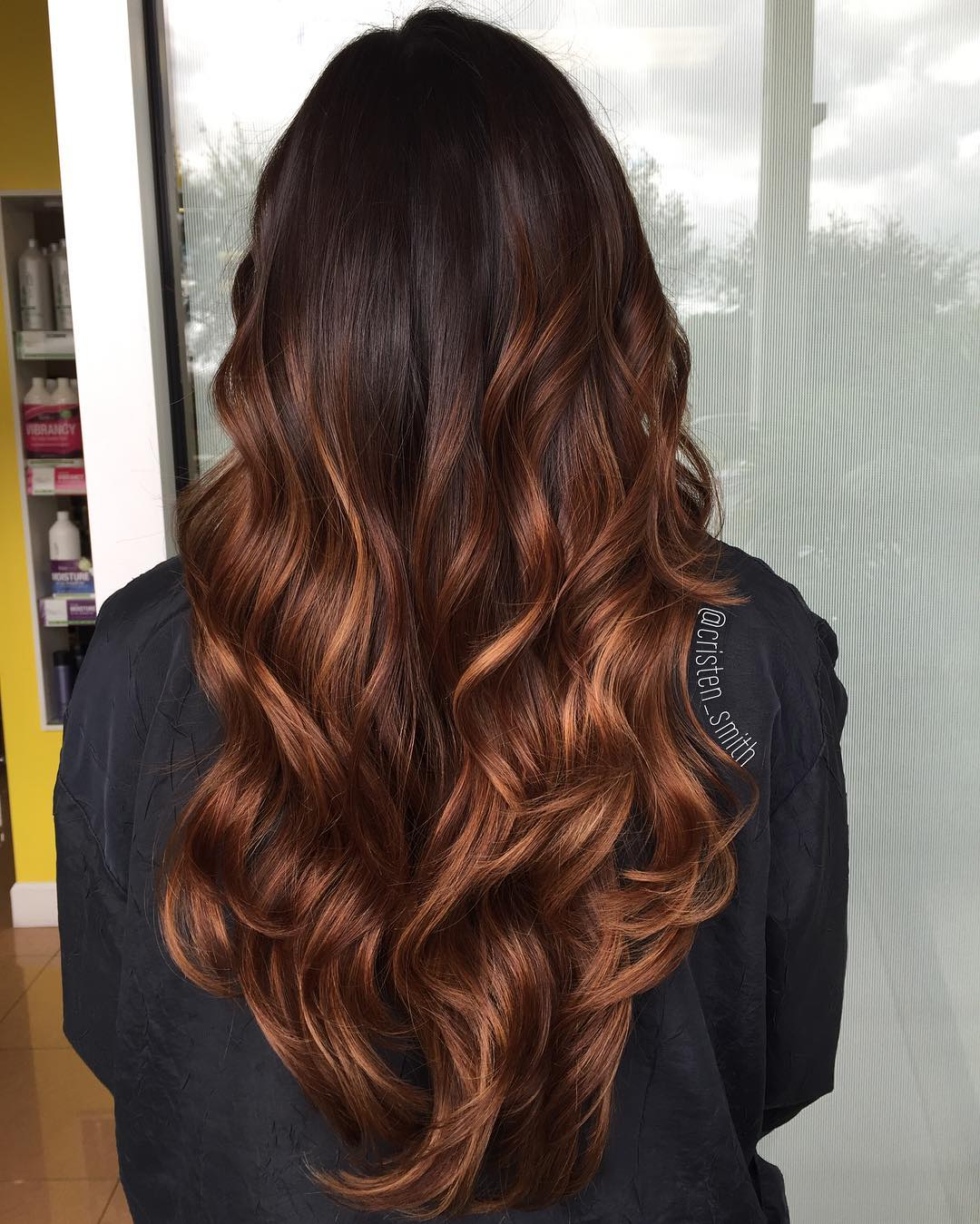 Chocolate Mocha Ombre Long Hair