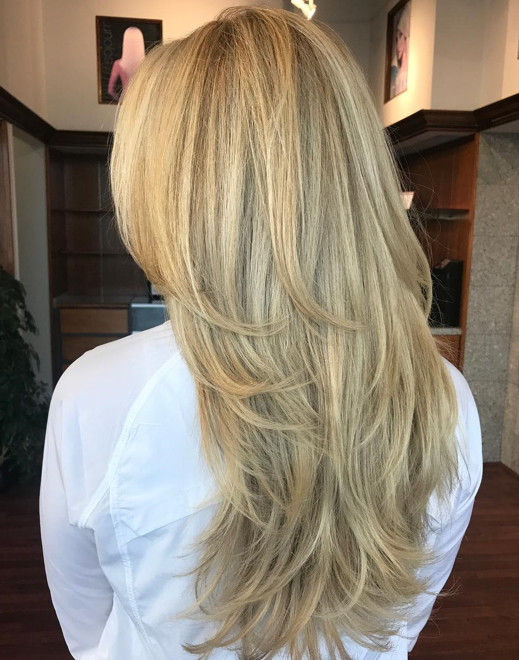 Long Layered Blonde Hairstyle