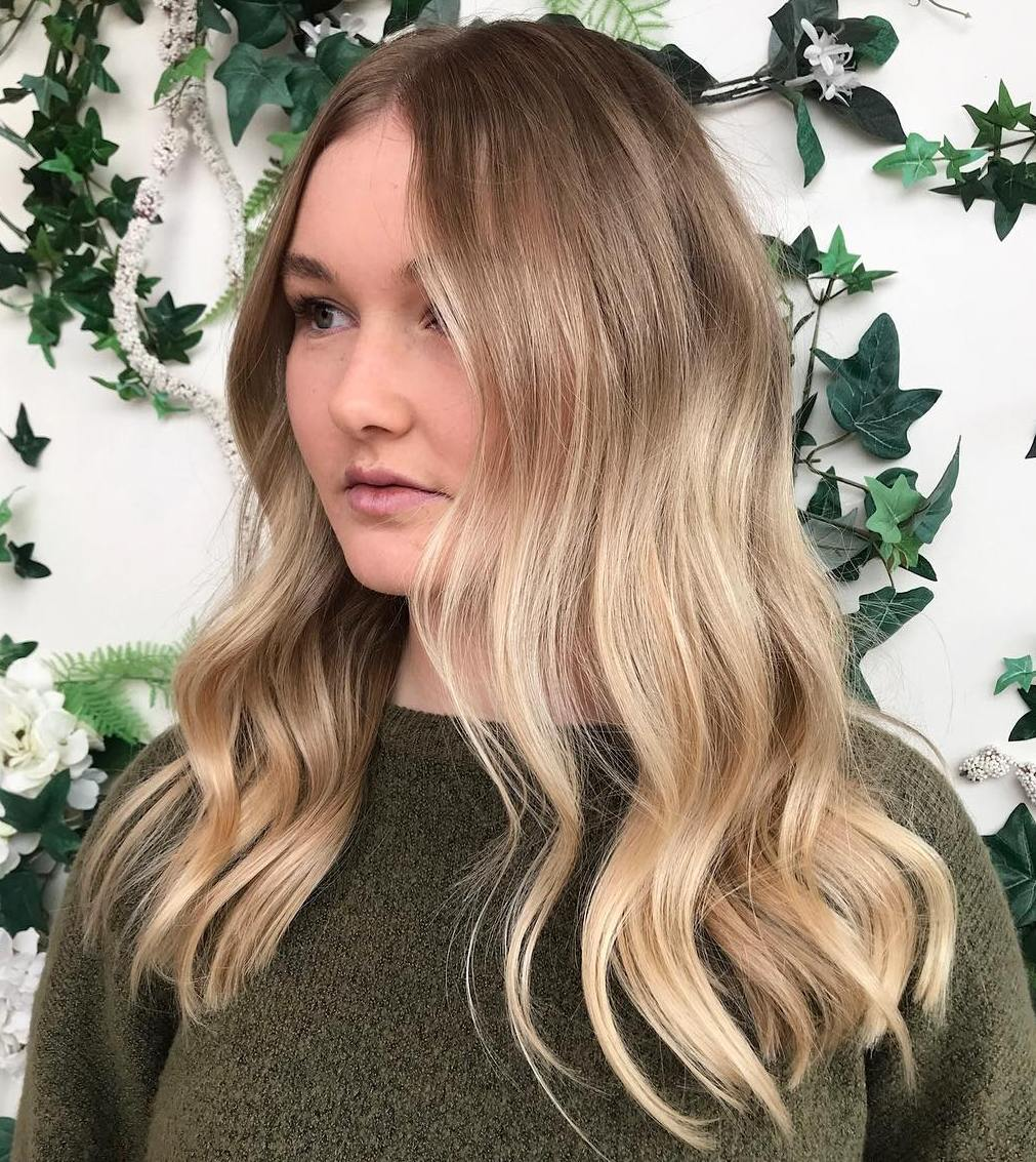 Long Hairstyle for Thin Hair and Round Face