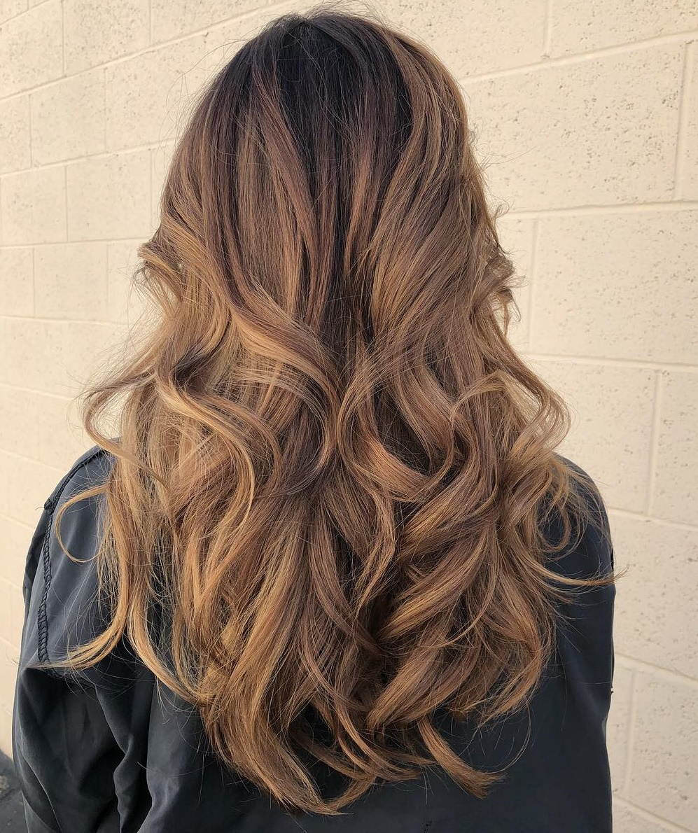 Curly Hairstyle with Layers for Long Hair