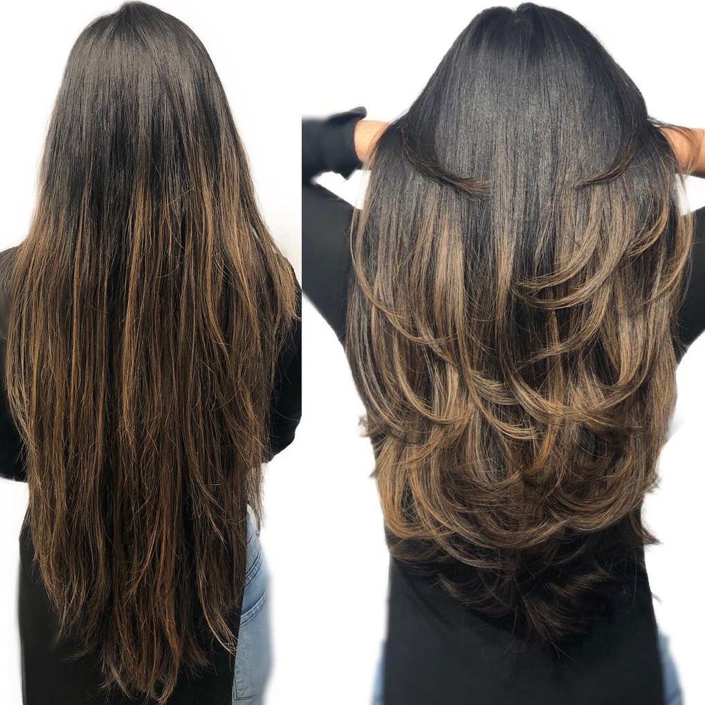 Long Voluminous Haircut with Layers
