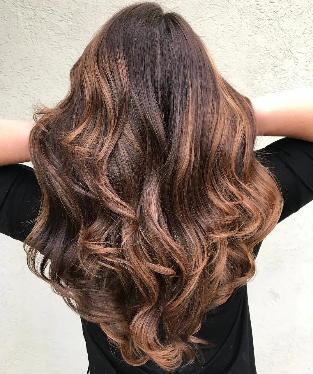Chocolate and Caramel Layered Hairstyle