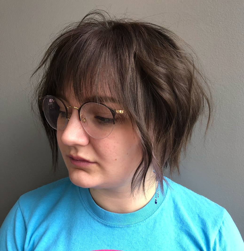 Short Shag for Girls with Round Faces