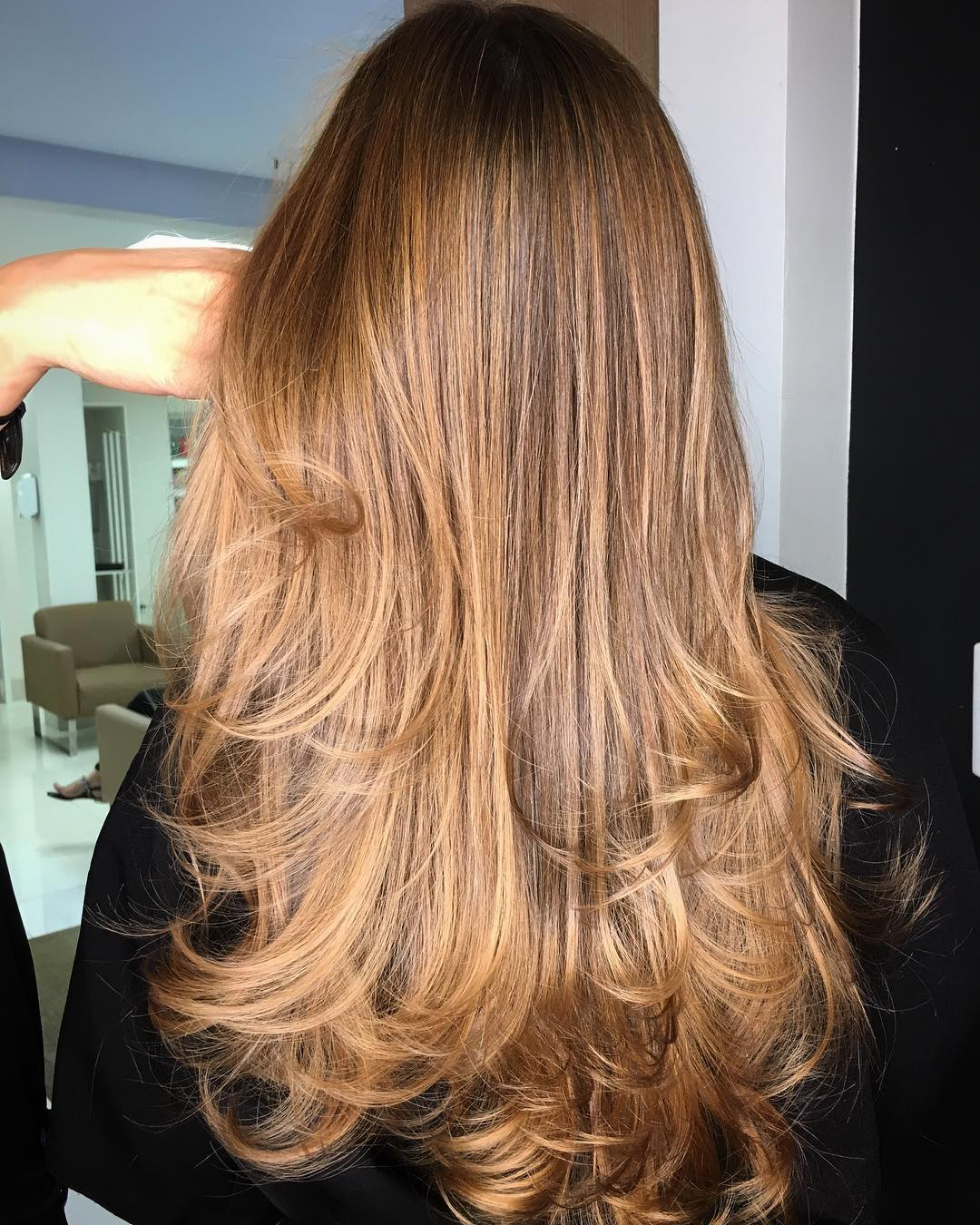 Long Straight Thin Hair with Layers