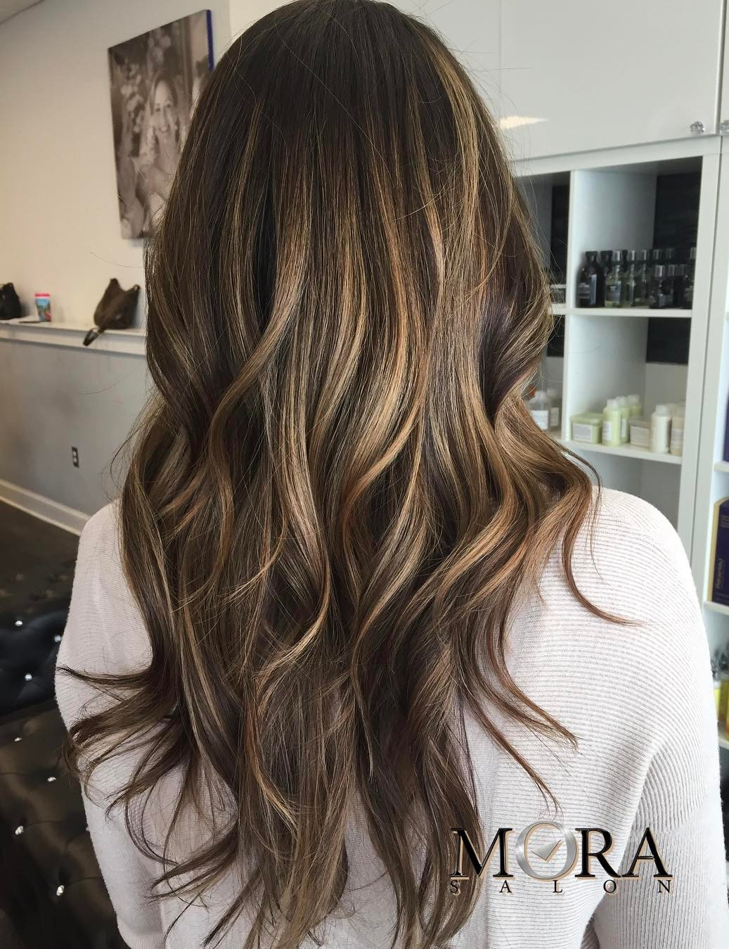 Brown Long Hair with Layers and Balayage