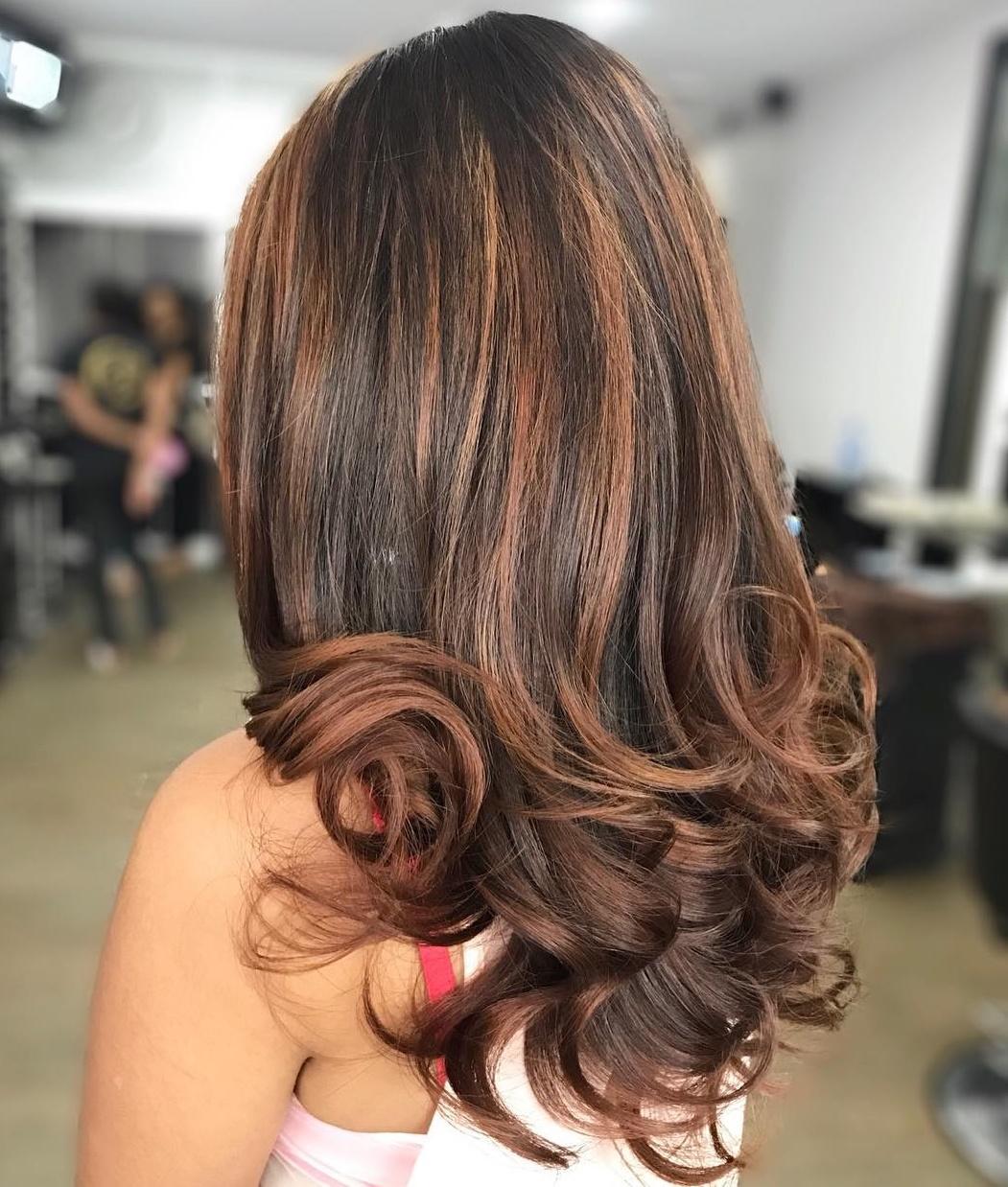 Brown Hair with Cinnamon Balayage