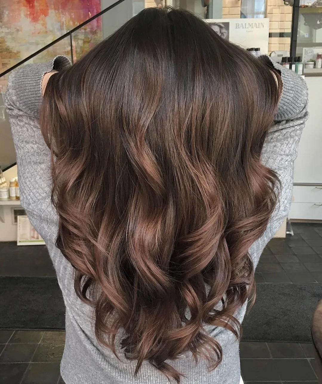 Long Chocolate Hair with Curls